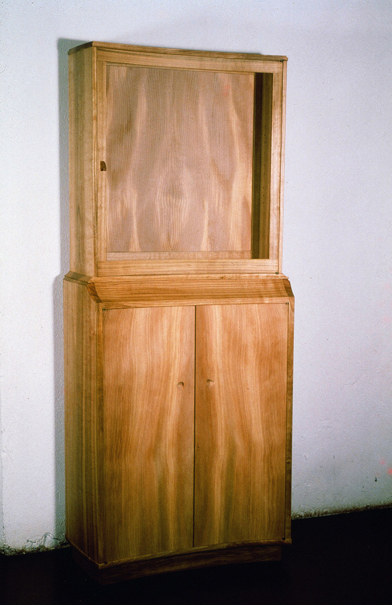 Showcase Cabinet of Cherry Wood